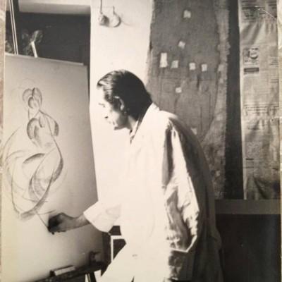 Antonio Marroni, my maestro, in his studio