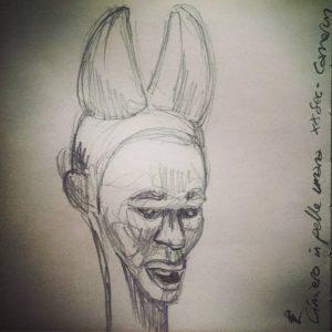 mudec horned head human skin