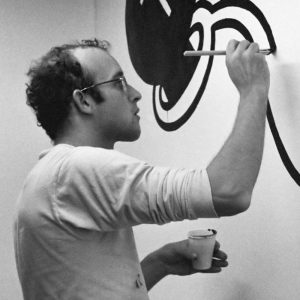 Inspiration has to find you working_Keith_Haring_(1986)
