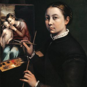 Inspiration has to find you working_Self-portrait_at_the_Easel_Painting_a_Devotional_Panel_by_Sofonisba_Anguissola