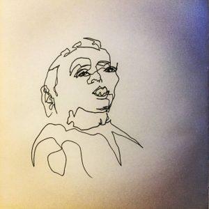 portrait blind contour drawing
